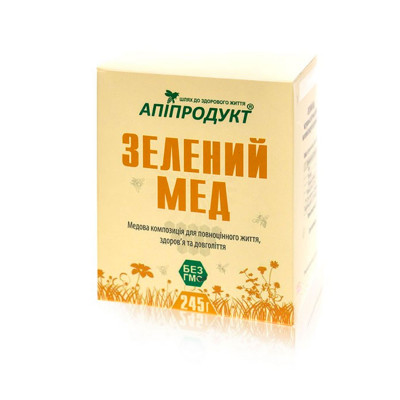 Зелений Мед АПІПРОДУКТ 245 г