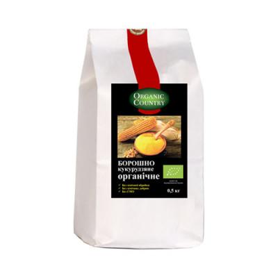 Борошно кукурудзяне ORGANIC COUNTRY органічне 0,5 кг